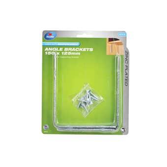 Zenith Angle Bracket Zinc Plated 150 x 125mm - 2 Pack