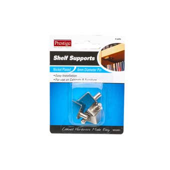 Prestige Angled Shelf Supports Nickel Plated - 4 Pack