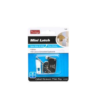 Prestige Cupboard Mini Latch White - 1 Pack