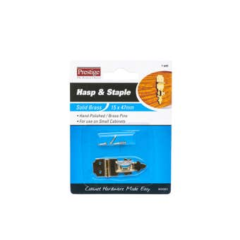 Prestige Hasp & Staple Polished Brass 47 x 15mm - 1 Pack