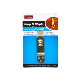 Prestige Hasp & Staple Polished Brass 69 x 19mm - 1 Pack