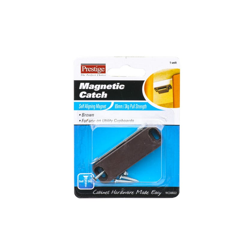 Prestige Magnetic Catch Light Duty Brown 65mm - 1 Pack