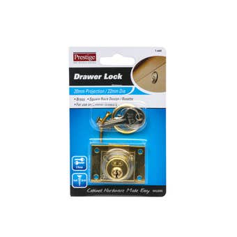 Prestige Drawer Lock Brass
