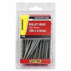 Otter Nail Bullet head Galvanised 100x4.50mm (500G)
