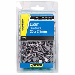 Otter Nail Clout Galvanised 20x2.80mm (500G)