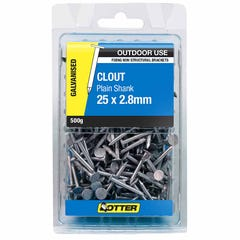 Otter Nail Clout Galvanised 25x2.80mm (500G)