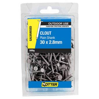 Otter Nail Clout Galvanised 30x2.80mm (500G)