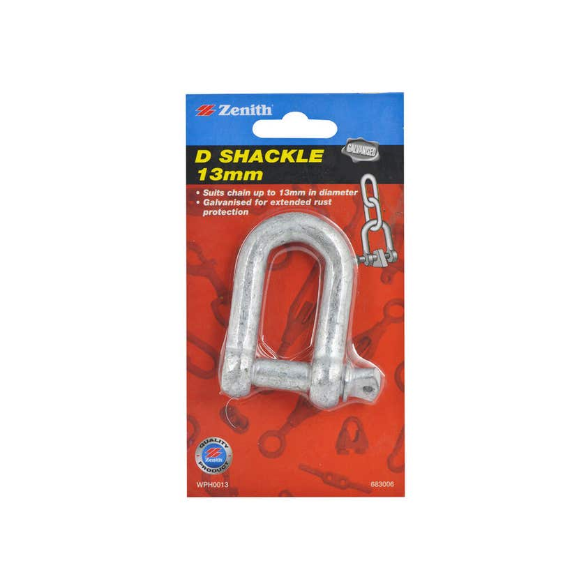 Zenith D-Shackle Galvanised 13mm - 1 Pack