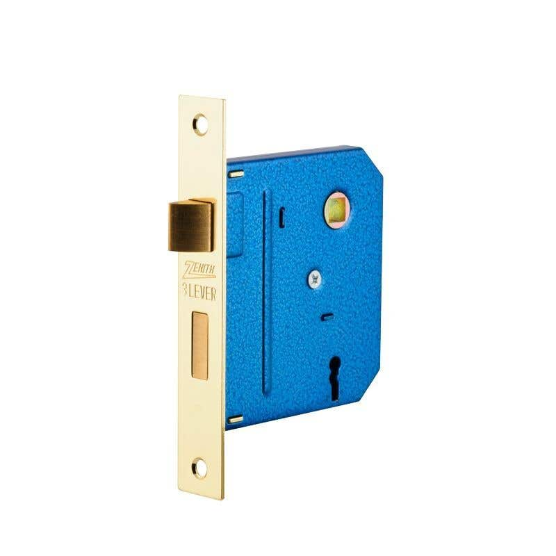 Zenith Lock Mortice Brass Plated - 1 Pack