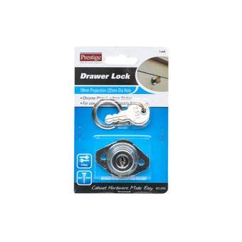 Prestige Drawer Lock Chrome Plated