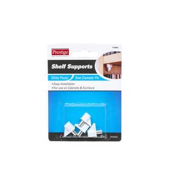 Prestige Plastic Shelf Supports White 5mm - 4 Pack