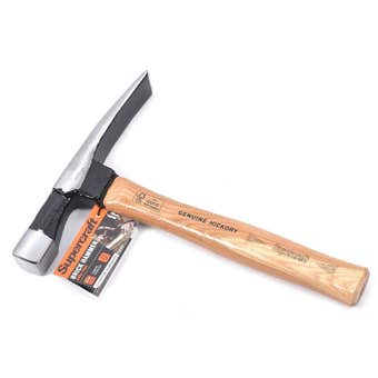Supercraft Timber Handle Brick Hammer 680g