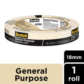 Scotch General Purpose Masking Tape 18mm X 55m