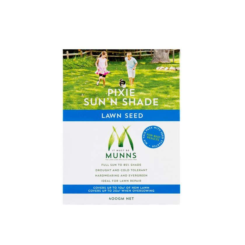 Munns Pixie Sun & Shade Lawn Seed 400g