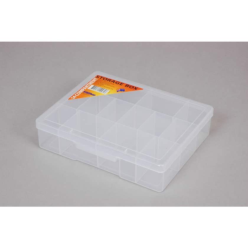 Fischer Storage Box Clear Medium 14 Compartment