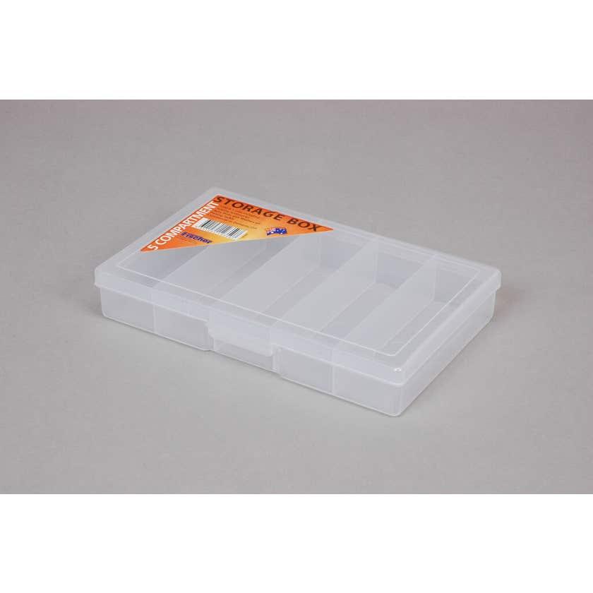 Fischer Storage Box Clear Small 5 Compartment