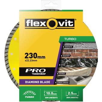 Flexovit Turbo Diamond Blade 230mm