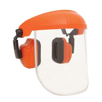 Protector Combination Earmuff & PC Visor Removable Browguard