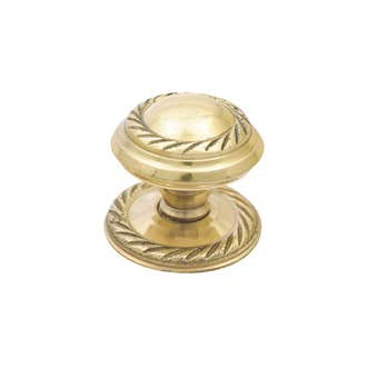 Prestige Georgian Knob Polished Brass 32mm