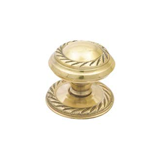 Prestige Georgian Knob Polished Brass 38mm