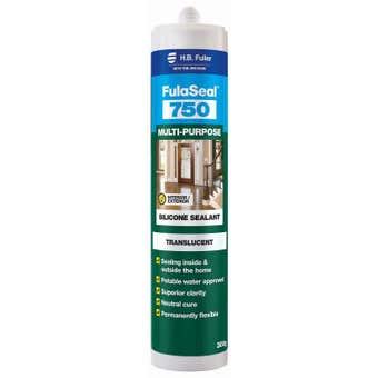 H.B. Fuller FulaSeal 750 Silicone Sealant Translucent 300g
