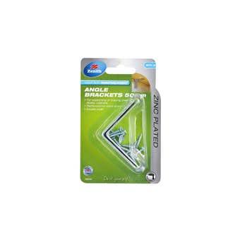 Zenith Angle Bracket Zinc Plated 50 x 50 x 35 - 2 Pack