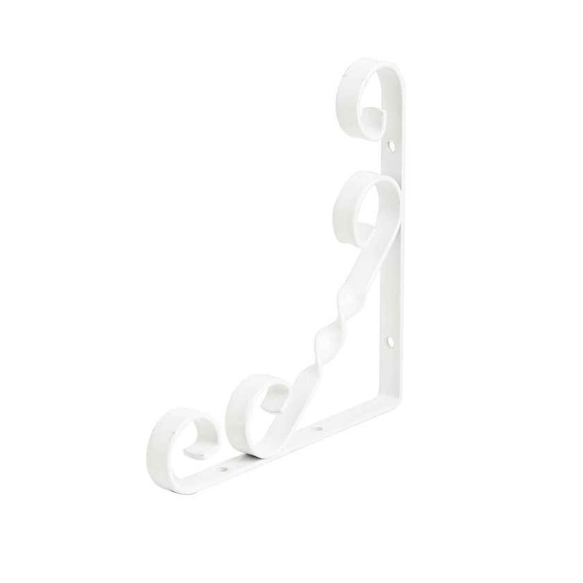 Zenith Scroll Bracket White 150 x 150mm - 1 Pack