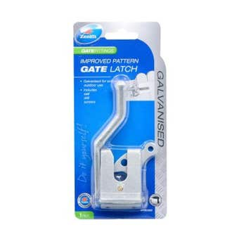Zenith Improved Pattern Gate Latch Galvanised - 1 Pack