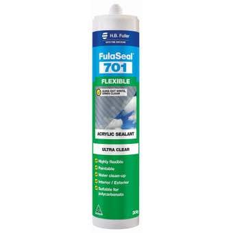 H.B. Fuller Fulaseal 701 Flexible Acrylic Sealant Ultra Clear 300g