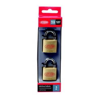 Lockwood Solid Brass 110 Series Padlock 30mm - 2 pack