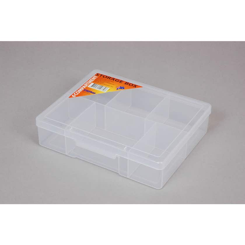 Fischer Storage Box Clear Medium 6 Compartment