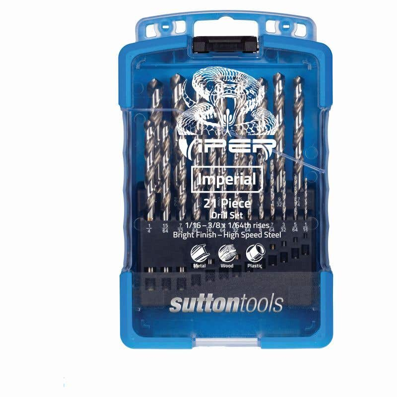 Sutton Tools Viper Jobber Drill Bit Set Imperial - 21 Piece