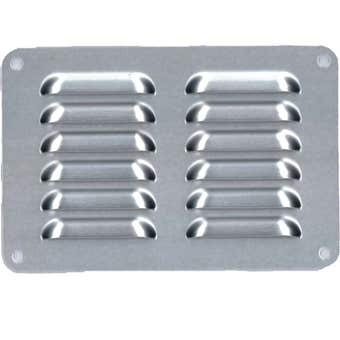Haron Pressed Aluminium Vent Silver 150 x 100mm