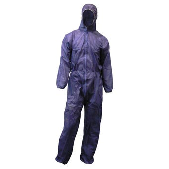 Protector Disposable Overall Blue XL