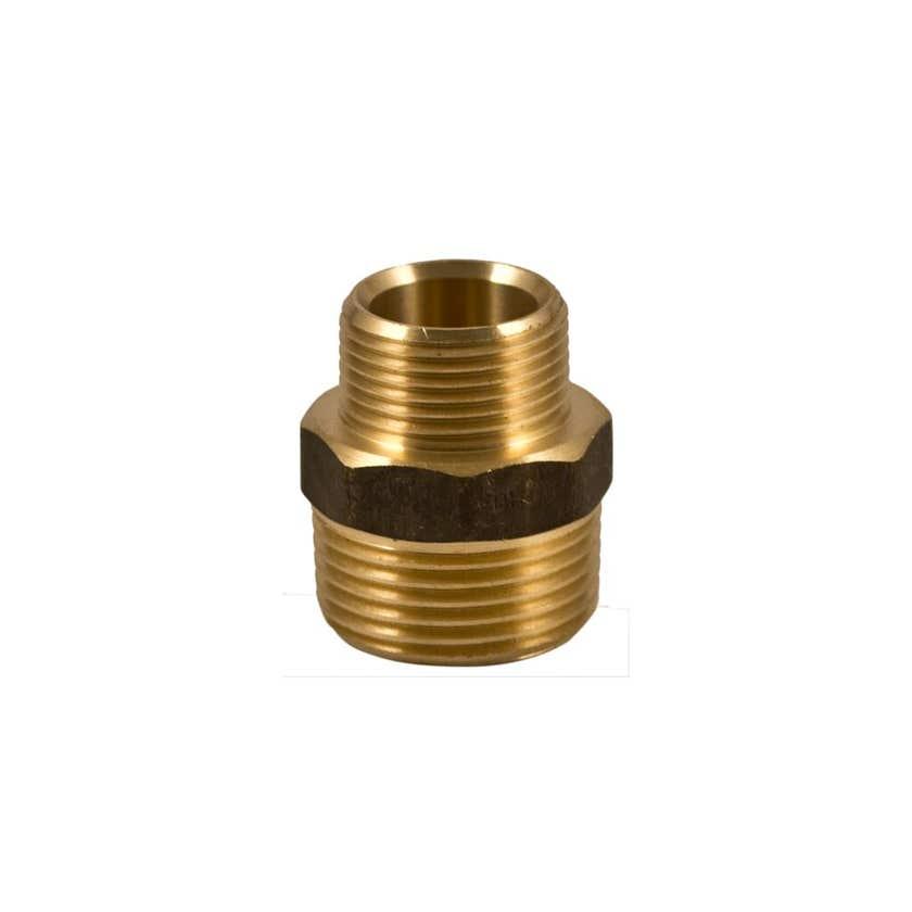 Brasshards Nipple Hex Reducing Brass 20mm x 15mm