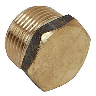 Brasshards Plug Hex Brass 15mm