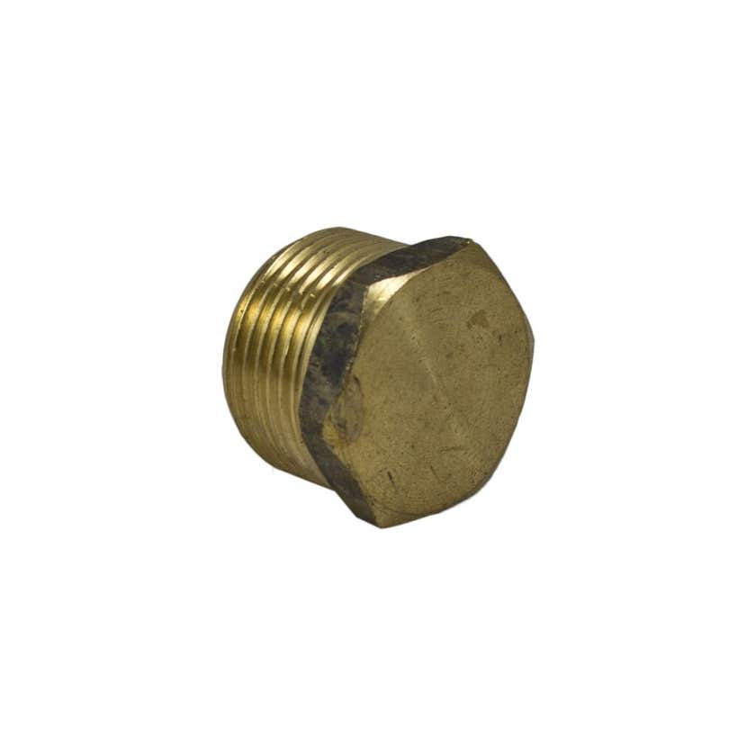 Brasshards Plug Hex Brass 25mm
