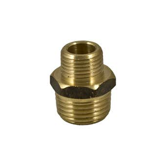 Brasshards Hex Nipple Brass 15x10mm