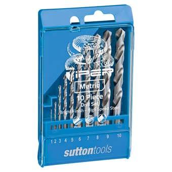 Sutton Tools Viper Jobber Drill Bit Set Metric - 10 Piece