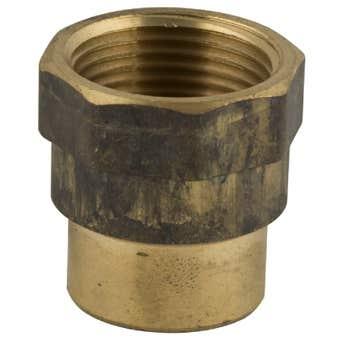 Brasshards Socket Hex Red Brass 15 x 10mm