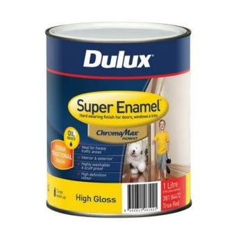 Dulux Super Enamel High Gloss True Red Base 1L