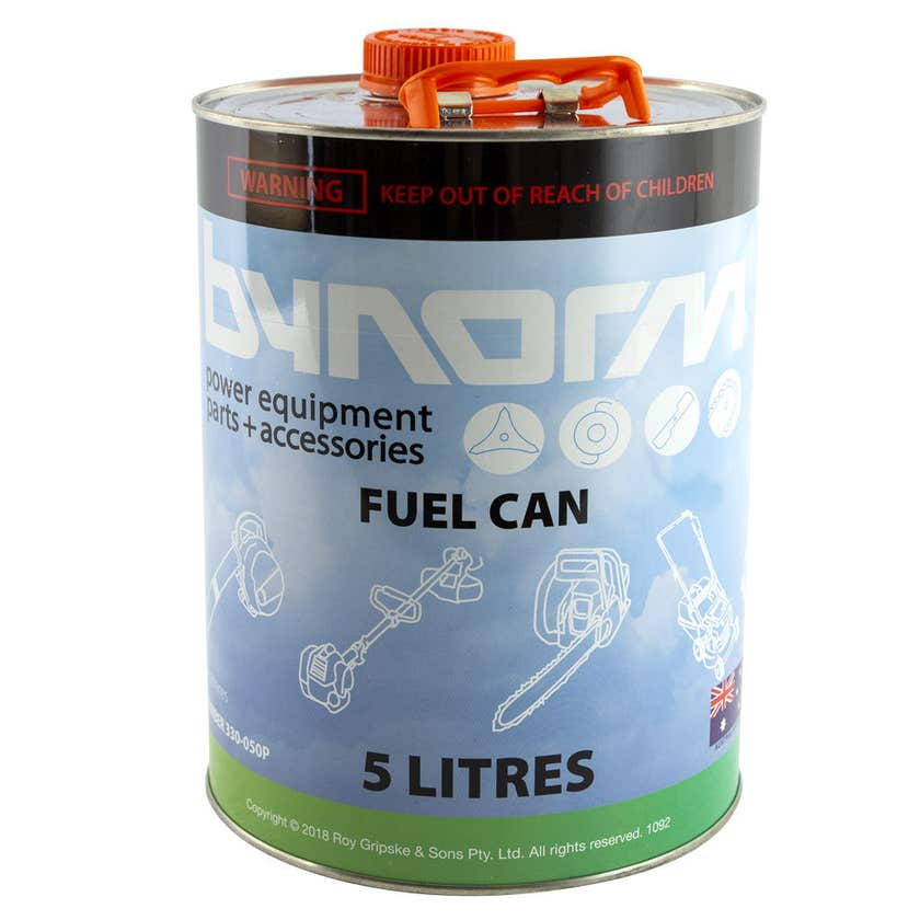 Bynorm Metal Ribbed Fuel Can 5L