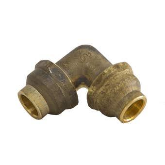 Brasshards Elbow Flare Compression Brass 15mm x 15mm