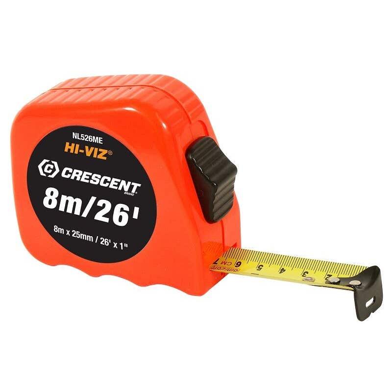 Crescent Hi-Viz Tape Measure 8m/26'