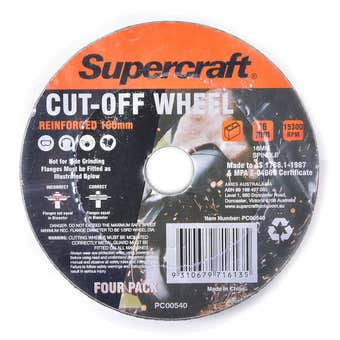 Supercraft Masonry Cut Off Wheel 16mm - 4 Pack