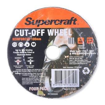 Supercraft Wheel Cut Off Metal 100mm - 4 Pack