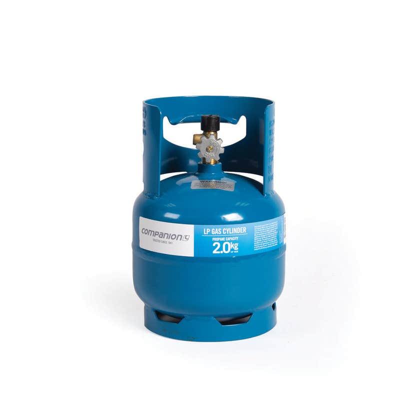 """Companion Gas Cylinder LH Thread 3/8"""" 2kg"""