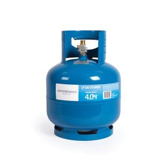 """Companion Gas Cylinder LH Thread 3/8"""" 4kg"""