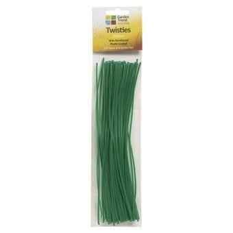 Garden Trend Wire Twistie Ties Green 200mm - 100 Pack