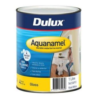 Dulux Aquanamel Gloss Vivid White 1L